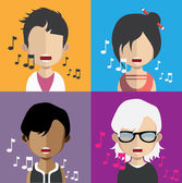 Avatar vector icons (singers)