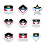 Постер, плакат: Angola flags icons and button set nine styles
