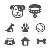 Cute dog icon symbol on white Vector element