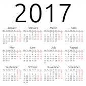 Simple 2017 year calendar EPS 8 vector