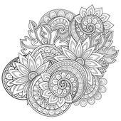 Monochrome Floral abstrakt