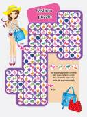 Vector activity page for kidsLet solve fashion puzzle