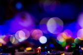 Rozostření zábava koncertní osvětlení na jevišti, bokeh