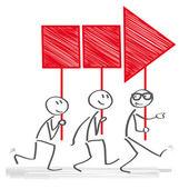 Vedení - skupina jde společně k úspěchu