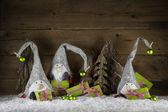 Legrační ručně vyráběné vánoční ozdoba červená, bílá, zelená, hnědá