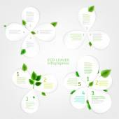 The illustration of beautiful bio infographics with  paper leaves charts and diagrams Ecology and biology natural concept Vector image Ideal for brochure leaflet and catalogue info graphic pages