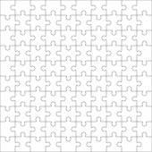 Skládačka, sto prázdné tvary