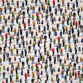 Large group of people Vector seamless background