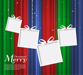 Vector illustration Abstract Christmas card with gifts