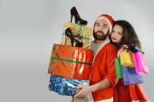 Santa Claus a Ms Claus v vánoční nákupy