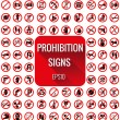 Постер, плакат: Prohibition signs vecter set