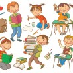 Постер, плакат: Cute School Children