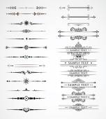 Elements for a vintage design - decorative line dividers Vector illustration