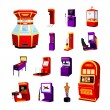 Постер, плакат: Game Machine Icons Set