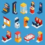 Постер, плакат: Game Machine Isometric Icons