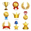 Постер, плакат: Realistic award icons set