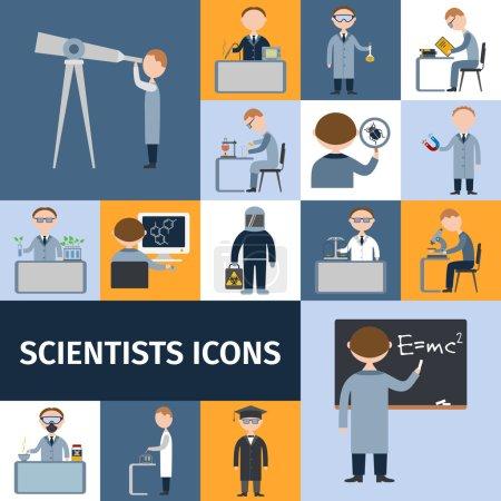 Постер, плакат: Scientists Icon Set, холст на подрамнике