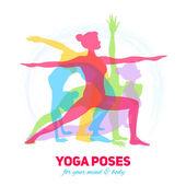 Yoga-Fitness-Konzept