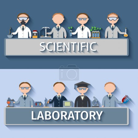 Постер, плакат: Scientists In Lab, холст на подрамнике