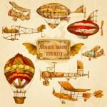 Постер, плакат: Vintage Aviation Sketch