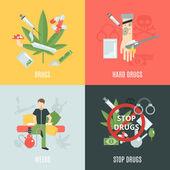 Drogen-flach-set
