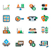 A-b testing split research study icons set isolated vector illustration