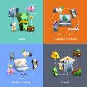 Bankovnictví a platebních sada ikon