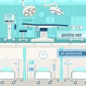 Provoz lékařské ordinace 2 bannery sada