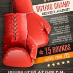 Постер, плакат: Gloves Boxing Poster