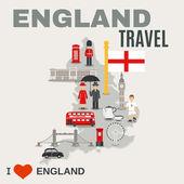England-Kultur für Reisende-Poster