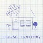 Постер, плакат: Concept of house hunting