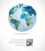 Vector world globe triangular map of the earth Modern elements of info graphics World Map