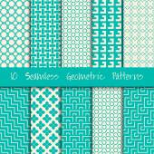 Grunge Seamless Geometric vector Patterns Set
