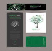 Šablona vizitky s stylizovaný strom