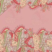 Beautiful pink background with ornaments and place for text vector