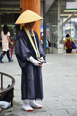 Japanese monk standing