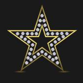 Golden luxury star Success award quality concept Star logo Golden star with diamonds