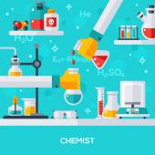 Concept of chemist workplace.