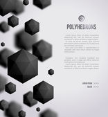 Abstraktní černé geometrické tvary na světlé pozadí
