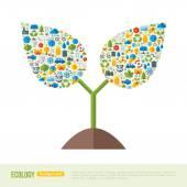 Bimba ökológia ikonok mintával