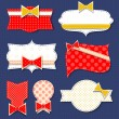 Постер, плакат: Stickers with polka dot pattern