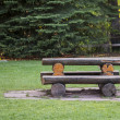 Постер, плакат: Log Picnic Table