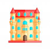 Vector illustration of castle on a white background