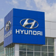 Постер, плакат: Indianapolis Circa May 2016: Hyundai Motor Company Dealership Hyundai is a South Korean Multinational Automotive Manufacturer I