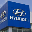Постер, плакат: Indianapolis Circa May 2016: Hyundai Motor Company Dealership Hyundai is a South Korean Multinational Automotive Manufacturer II