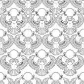 Scarab silhouette vector seamless pattern illustration clip art