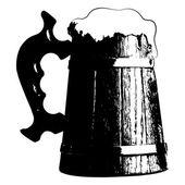 Silhouette beer mug Vector Illustration clip art