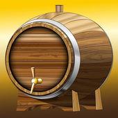 Wooden Beer barrel Vector illustration Clip art