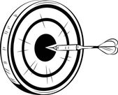 Šipky na cíl pro býky oko