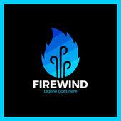 Fire Three Wind Logo Hot bonfire